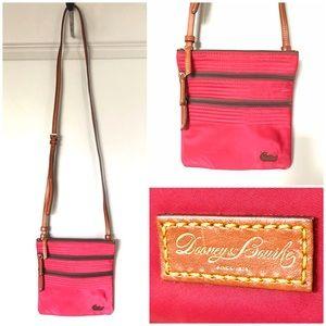 Dooney & Bourke North South Triple Zip Bag in Pink
